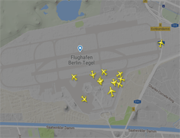 Flughafen Berlin-Tegel Flugverfolgung live