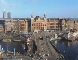 Amsterdam – Bahnhof Amsterdam Centraal Webcam Live