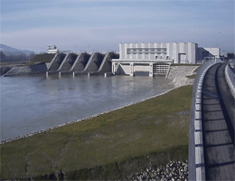 Brežice – Hidroelektrarna Brežice Webcam Live