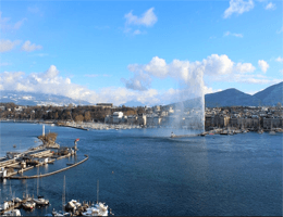 Genf – Genfersee und Jet d'eau Webcam Live
