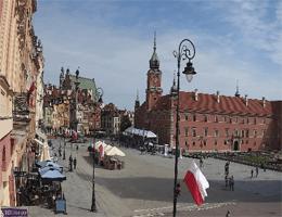 Warschau Schlossplatz Webcam Live