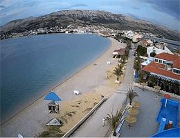 Pag – Plaža Prosika Webcam Live