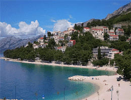 Baška Voda – Podluka beach Webcam Live