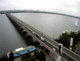 Dnipro – Central Bridge Webcam Live