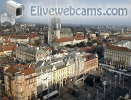 Ban Jelačić Platz Panorama Webcam Live