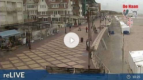 De Haan Strandblick webcam Live