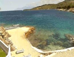Ksamil Strand Camping Sunset Webcam Live