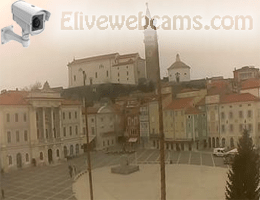 Piran Tartini Platz Webcam Live