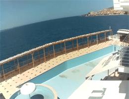 Saranda Hafen und Bucht Webcam Live