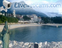 Baška Voda St. Nikola und Strand Webcam Live