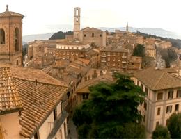 Perugia Mittelalterliche Bereich Porta S. Pietro Webcam Live