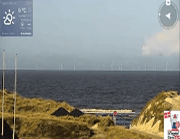 Vejers Strand Panorama Webcam Live