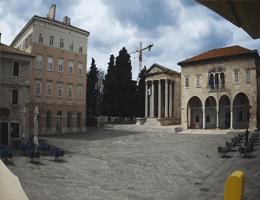 Pula Temple of Augustus Webcam Live